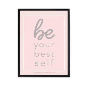 be your best self wall art office decor