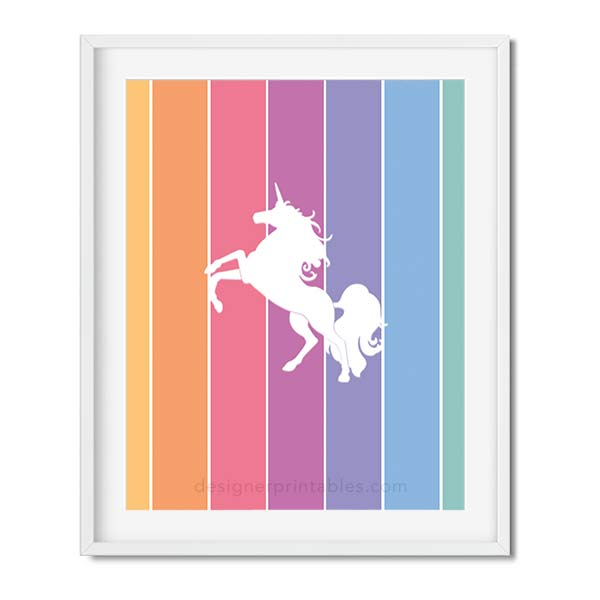 Free Printable: Rainbow Unicorn |