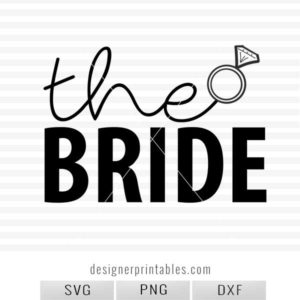 bride svg cut file, vinyl cut project for bride, vinyl tank idea for bride, wedding collection svg
