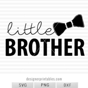 little brother svg cut file, svg cut file, little brother shirt