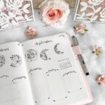 beautiful bujo layouts on instagram, bujo inspiration