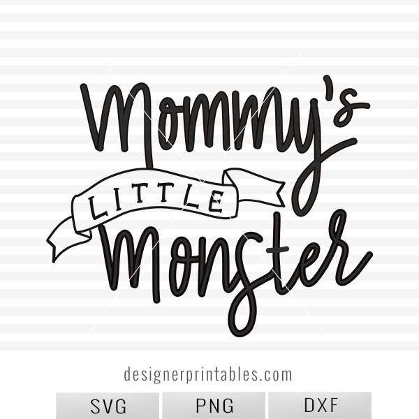 svg cut file, halloween svg, mommy little monster printable, baby onesie idea, mommy svg cut file