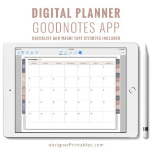digital planner stickers, digital planner goodnotes, bujo, bullet journal app