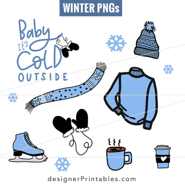 winter stickers, winter svg, most popular svg, most popular winter clipart, winter doodles