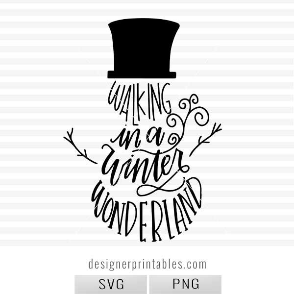 handlettered winter wonderland, snowman svg, snowman printable, winter wonderland svg, winter wonderland snowman svg, snowman clip art, winter svg, snow svg, holiday svg, christmas svg, popular winter svg