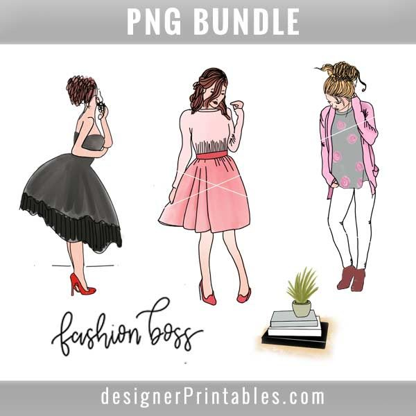 fashion girl boss doodle, digital sticker, girl boss stickers, girl boss doodle, fashion girl doodle sticker, fashion planner stickers, fashion girl planner sticker bundle, digital planner sticker, girl stickers, girl planner stickers