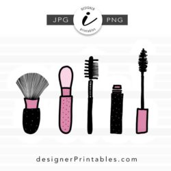 cosmetic brush illustration, makeup brush png, makeup brush illustrations, makeup brush drawing, makeup artist business card