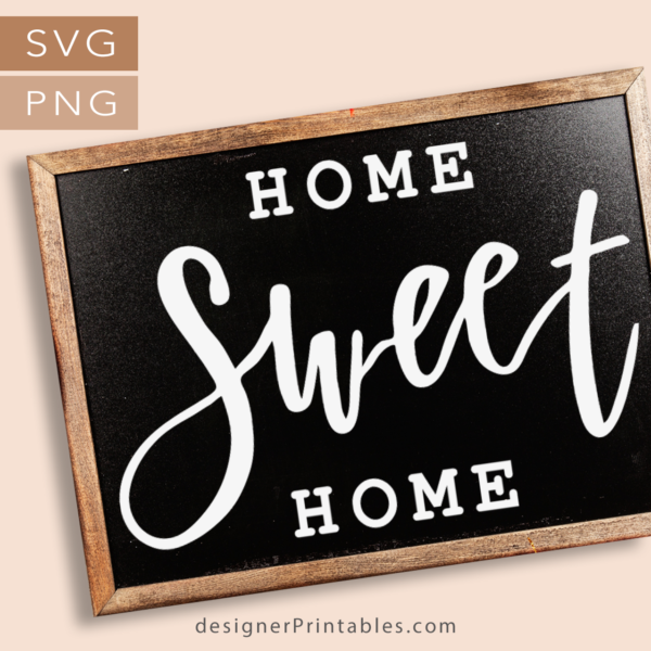 free home sweet home svg, free home sweet home sign printable, free hand lettered home sweet home sign svg