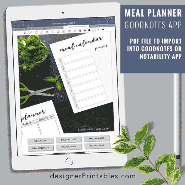 digital meal planner, meal planner for good notes app, digital meal planner PDF, meal planner printable, free printable, meal ideas