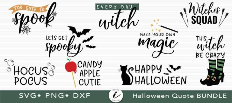 halloween svg cut file, svg cut file for halloween, halloween clipart, halloween quote svg, halloween svg bundle, crafting quote bundle