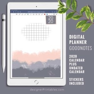 digital planner goodnotes app, undated planner for iPad, free iPad Printables, free printables, free undated calendar