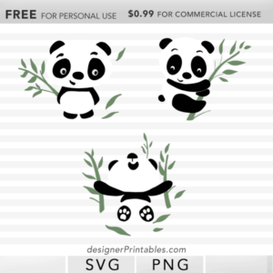 free SVG panda, free png panda, free svg panda clipart, free panda bamboo svg cut file, files for Cricut machine