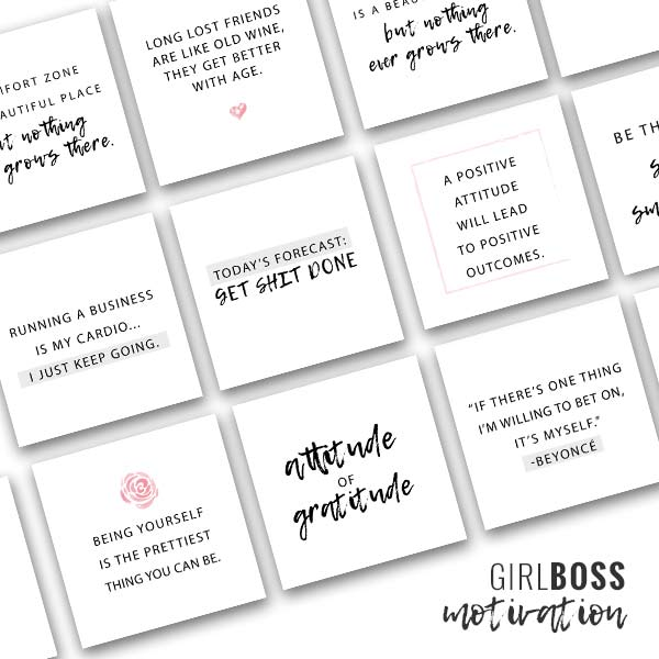 social media quotes for instagram, social media quote pack, motivational quotes for social media, hand lettered social media quotes, online quote pack, printable quotes