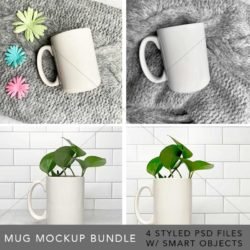 styled flatlay stock photos, product photos, product mockups, photoshop mockups, photoshop smart objects, layered stock photo, mug mockup, mug mockup bundle, subway tile background