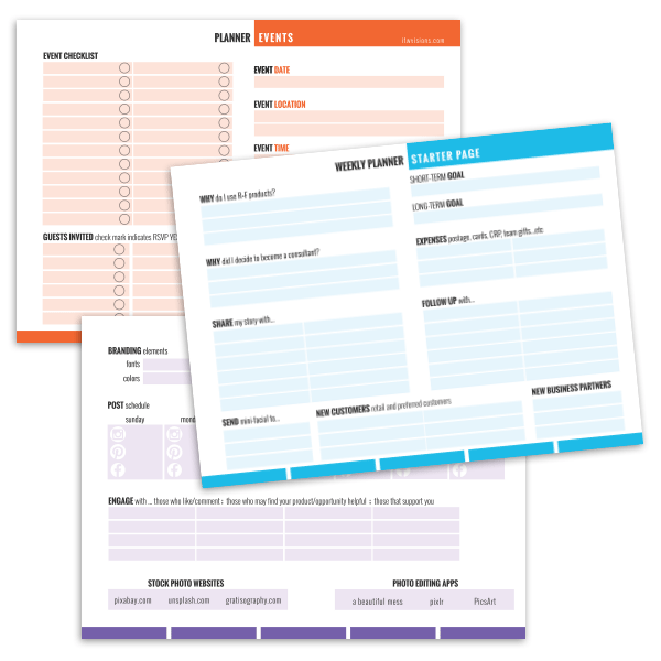 rodan and fields free planner sheets, rodan and fields business planner sheet, rodan and fields free printable