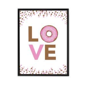 love donuts, donut, donut worry be happy printable poster, super cute wall art