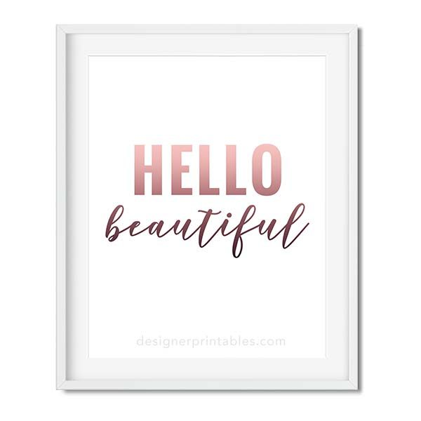 hello beautiful girl boss office decor, girly office quote