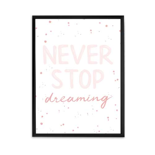 never stop dreaming girl boss office decor, motivational quote