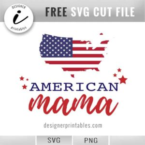 American mama svg, free svg July 4, American mama graphic, 4th of July svg