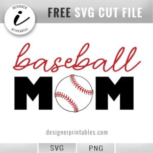 free svg baseball mom, free png baseball mom, baseball mom, baseball graphic