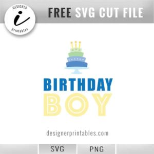 free svg cut file, birthday boy svg, birthday boy party idea, birthday boy with birthday cake