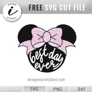 free Disney svg cut file, free Minnie Mouse svg cut file, Minnie Mouse with bow svg cut file, Disney shirt idea, Disney shirt idea for girl