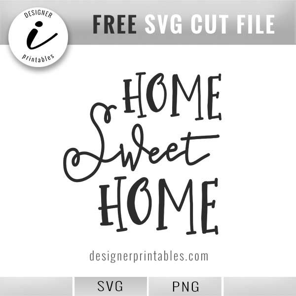 free svg cut file hand lettered home sweet home, Farm style sign idea, home sweet home sign