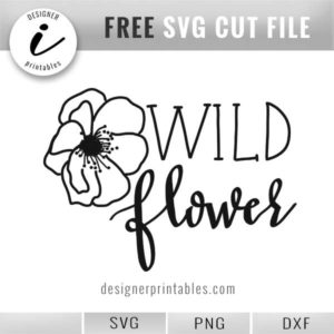 free svg cut file, svg wild flower, wild flower shirt, svg vinyl cut file
