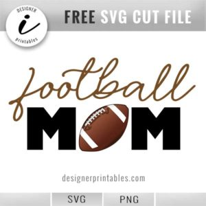 free svg football mom, free svg cut file, football mom clipart graphic