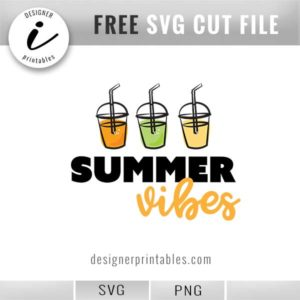 free svg vector cut files, summer vibes drinks cookout decor inspiration, free vector file, drinks, summer vibes