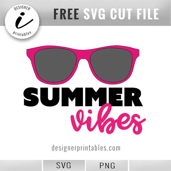 free svg summer vibes sunglasses, free printable, summer graphic clipart, how to make shirts, how to print on shirts, project inspiration, diy inspiration,