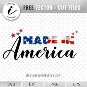 made in American svg, made in America clipart graphic, free svg 4th July, free made in America svg