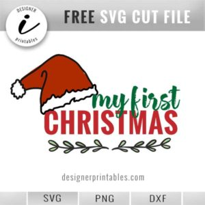 free svg Christmas, my first christmas svg cut file, christmas svg png printable