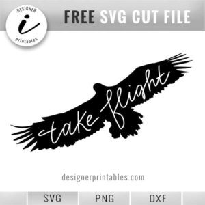free svg eagle, eagle silhouette, take flight quote