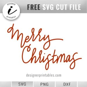free svg cut file, free Christmas svg, free Christmas printable, hand lettered merry christmas overlay for holiday photo