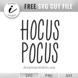 free svg cut file, free handlettered hocus pocus, halloween svg cut file