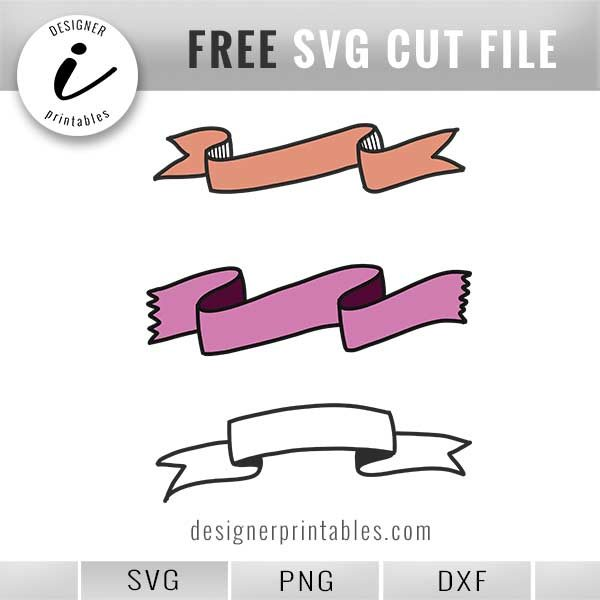 free svg banner, free png banner printable, hand drawn banner svg printable, hand lettering banner, bujo banner idea