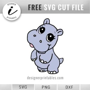 svg baby hippo, baby hippo clipart png printable, free animal doodles, animal doodle, hippo svg cut file, cricut made, silhouette cameo idea