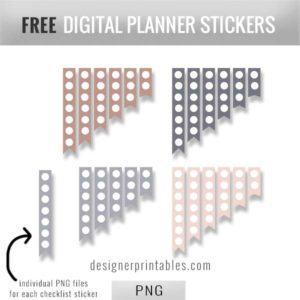free digital stickers, free sticky note png files, free sticky note PDF page, digital bujo stickers, free stickers for bujo, sticky note layout