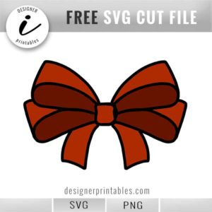 most popular svg files, free svg, free bow svg, free bow png, double bow svg, holiday bow svg, free christmas printable