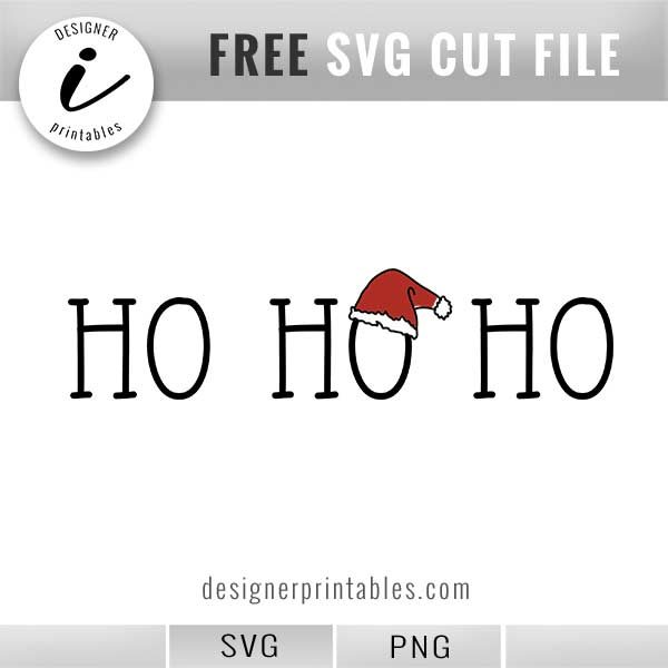 free holiday svg, free christmas svg, free svg cut files, popular holiday cut files, popular printables, free Santa hat printable, free holiday png, free holiday printable