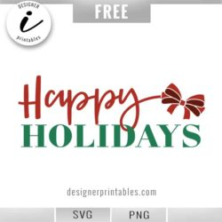 popular christmas svg, happy holidays svg, christmas printable, cricut holiday cut files, happy holiday clipart