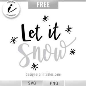 free christmas svg, free holiday svg, free cut file, let it snow svg, popular christmas svg