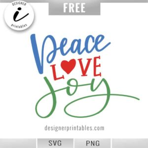free christmas svg, free holiday svg, free peace love joy svg, free cut file for cricut, cricut ideas, popular christmas svg