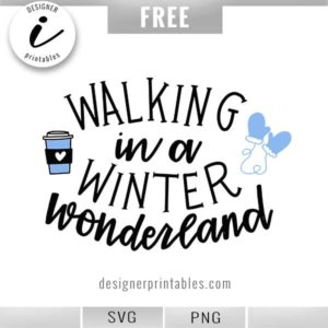 free svg, free winter svg, free walking winter wonderland mittens, coffee cup svg, free winter svg, free holiday svg, free Christmas svg