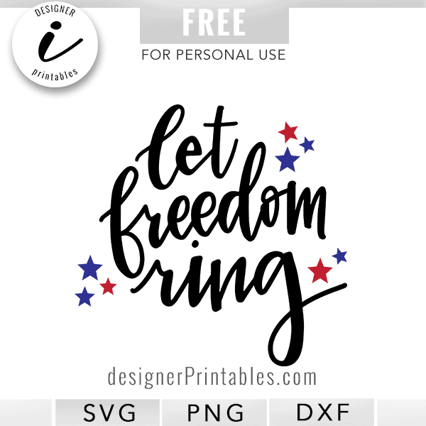 summer svg, free summer svg, free summer clipart, Independence Day svg, 4th of July svg, July 4 svg, let freedom ring svg