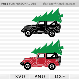 free christmas svg, free christmas jeep, free Christmas printable, free christmas jeep tree svg, free christmas printable, free jeep christmas tree svg