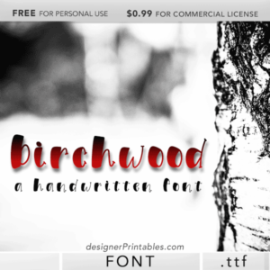 free font, free handwritten font, free fonts for designers, free birchwood font download